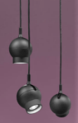 3 x Ateljé Lyktan Designer Ogle Pendant LED Lights With Die Cast Aluminium Casing - Type 201515 -