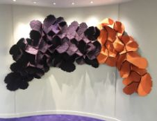 1 x Kvadrat Cloud Three-Dimensional Contemporary Wall Art - 100% Wool - Designed By Ronan and