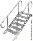 1 x Alustage SPS03/4 v1 Telescopic Step and Two Safety Hand Rails - Ref: 1408 - CL581