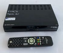 1 x Ferguson Ariva 154 Combo Freeview box inc. Remote And PSU In Flight Case- Ref: 169 - CL581 -