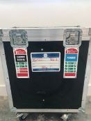 2 x Fire Extinguishers Co2 Powder Units In A Wheeled Flight Case - Ref: 259 - CL581 - Location: