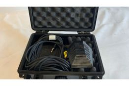 1 x AudioTechnica PRO 44 Boundary Mic including a cable in Mantona plastic case - Ref: 1222 -