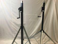 1 x Pair of Goliath studio basic 2800 lightning stands - Ref: 1182 - CL581 - Location: Altrincham