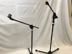 1 x Pair of microphone stands - Ref: 1174 - CL581 - Location: Altrincham WA14