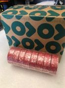 48 x Rolls Of Red PVC Tape - New & Boxed - Ref: 216 - CL581 - Location: Altrincham WA14