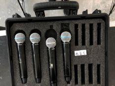 4 x Shure UR2 Beta 58a In Plastic Case - Frequency Range: J5E - Ref: 397