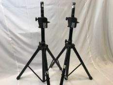 1 x Pair of On Stage Power crank up speaker stands A/F - Ref: 1167 - CL581 - Location: Altrincham