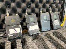 4 x Shure UR1 Transmitters In Plastic Case - Frequency Range: J5E - Ref: 401