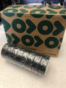 48 x Rolls Of Black PVC Tape - New & Boxed - Ref: 212 - CL581 - Location: Altrincham WA14