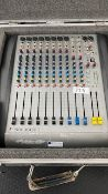 1 x Soundcraft Spirit E8 Mixing Desk Including Flight Case - Ref: 329 - CL581 - Location: Altrincham
