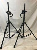 1 x Pair of wind up speaker stands - Ref: 1187 - CL581 - Location: Altrincham WA14