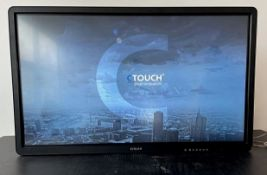 """1 x C-Touch 55"""" LED Monitor In A Dual Wheeled Flight Case - Ref: 148 - CL581 - Location:"""