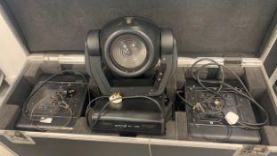 3 x Movitec SL250 Moving Heads In Triple Flight Case - Ref: 775 - CL581 - Location: Altrincham WA14