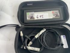 2 x Shure 93 Mics In Bags - Ref: 415 - CL581 - Location: Altrincham WA14Items will be available to