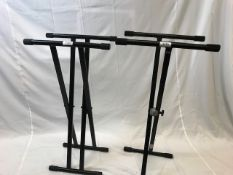 1 x Pair of Keyboard stands - Ref: 1170 - CL581 - Location: Altrincham WA14