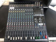 1 x Yamaha emx5016cf 16 Channel Powered Mixing Desk Including Flight Case