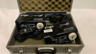 2 x Chauvet Hurricane 700 mini smoke machines - Ref: 1157 - CL581 - Location: Altrincham WA14