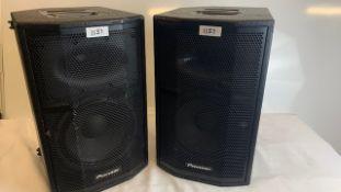 2 x Pioneer XPRS 10 Active loudspeakers - Ref: 1137 - CL581 - Location: Altrincham WA14