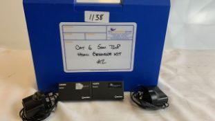 1 x AV:link HDMI Over CAT6 sender and receiver kit 720p with PSU in plastic case - Ref: 1158 - CL581
