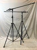 1 x Pair of K&M heavy duty overhead mic stands - Ref: 1189 - CL581 - Location: Altrincham WA14