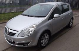 2008 Vauxhall Corsa 1.4 Design 5 Door Hatchback- CL505 - NO VAT ON THE HAMMER - Location: Corby,