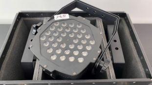 4 x LEDJ Slimline 36 RGBA In Box With Powercables - Ref: 381 - CL581 - Location: Altrincham WA14