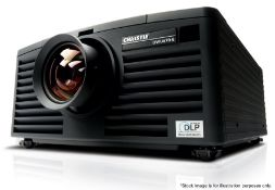 1 x 6K Christie DWU670-E Projector With Remote Control, 2 x Lense Fittings & Power Leads In Flight
