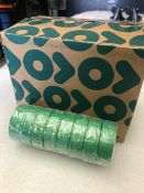 48 x Rolls Of Green PVC Tape - New & Boxed - Ref: 215 - CL581 - Location: Altrincham WA14