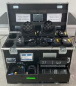 12 x Robe Robin LedBeam 100Moving Head Stage Lights Inc Clamps & Powercon Cables In Flight Case -