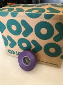 48 x Rolls Of Violet PVC Tape - New & Boxed - Ref: 222 - CL581 - Location: Altrincham WA14