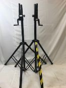 1 x Pair of Pulse wind up speaker stands with an adapter for smaller flange - Ref: 1186 - CL581 -