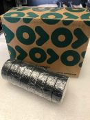 48 x Rolls Of Black PVC Tape - New & Boxed - Ref: 209 - CL581 - Location: Altrincham WA14