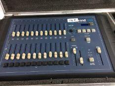 1 x Strand 100 DMX Lighting Desk Including Flight Case And Power Supply