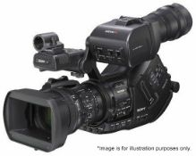 1 x Sony PMW-EX3 Video Camera With Lense filters, Cables, ACM-18 Adapter & PSU In Flight Case - Ref: