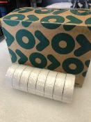 48 x Rolls Of White PVC Tape - New & Boxed - Ref: 219 - CL581 - Location: Altrincham WA14
