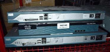3 x Cisco Network Items - Ref: In2145 - WH1 - CL011 - Location: Altrincham WA14