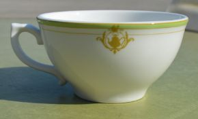 35 x DUDSON Fine China 'Georgian' Low Tea Cups With With Saucers All Featuring 'Famous Branding' -