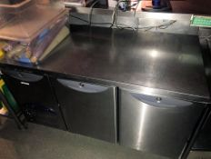 1 x Williams HO2U R1 2 Door Counter Fridge - Recently removed from London premises of a well-known