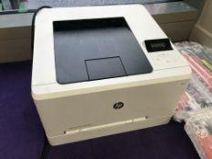 1 x HP Color LaserJet Pro M254nw A4 Colour Laser Printer- CL587 - Location: Altrincham WA14