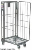 4 x Roller Cages With Heavy Duty Castors - Demountable With Three Sides - Ideal For Storing and