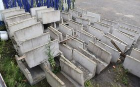 20 x Precast Stone Cable / Pipe Protection Trenches - Size of Each 100x61x88 cms - CL547 - Location: