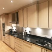 1 x Fitted Kitchen Featuring Birch Soft Close Doors, Black Granite Worktops and Zanussi Appliances -