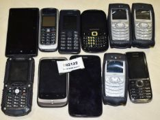 11 x Various Mobile Phone Handsets - Brands Include Samsung, HTC, Nokia and More - Ref: In2122
