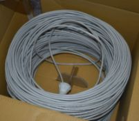 1 x Box of Excel CAT5E 4PR FTP Grey Ethernet Cable - Ref: In2112 Pal1 WH1 - CL546 - Location: