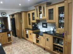 1 x Farmhouse Shaker Style Fitted Kitchen Featuring Solid Oak Soft Close Doors, Central Island,