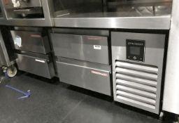 1 x Precision Low-Level 4-Drawer Refrigerator- Size H52 xW132 x D61 cms - CL554 - Ref IM208 -