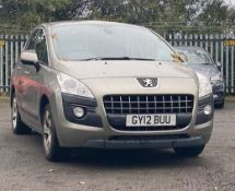 2012 Peugeot 3008 1.6 HDi Active SUV 5dr MPV - CL505 - NO VAT ON THE HAMMER