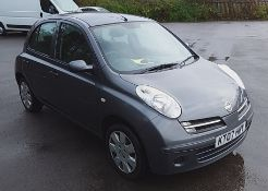 2007 Nissan Micra Hatchback 1.2 Spirita 5Dr Hatchback - CL505 - NO VAT ON THE HAMMER - Location: Cor