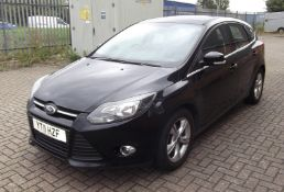 2011 Ford Focus 1.6 TDCI Zetec 5Dr Hatchback - CL505 - NO VAT ON THE HAMMER - Location: Corby,