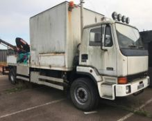 1991 Leyland DAF 180 Turbo Freighter 17.18 Truck With Fassi Loader Crane - Location: Sandwich,